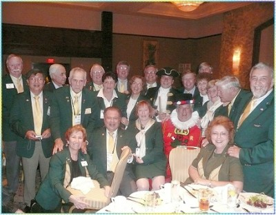 the Class of 2007-08 Past District Governor's celebrates together